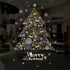 Christmas Tree Snowflake Snow Xmas Vinyl Wall Sticker Decal Showcase Window Shop