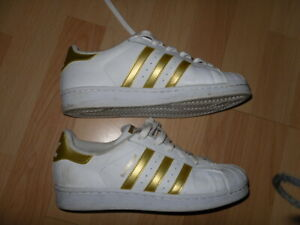 ADIDAS Superstars White Gold Trainers *excellent condition*uk 5*38