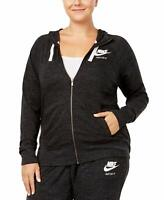Nike Gym Vintage Women's Hoodie with Full-Length Zip Black Sail Running Gym Yoga