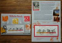 Bund Block 71 gestempelt im Gedenkblatt Wilhelm Busch mit ESST Berlin BRD 2007