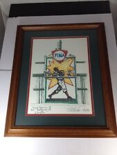 Grand Opening At The Ballpark, Texas Rangers MLB Lithograph Signed By Rick Rush