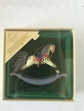 "Hallmark Keepsake Ornament ""Rocking Horse"" 1984 Collectible Series #4 New"