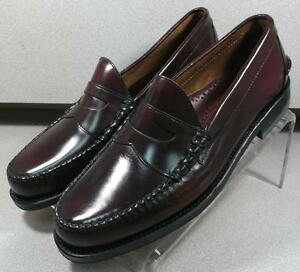 249003 DARK BURGUNDY ES50 Mens Shoes Size 11 B Leather Slip On Johnston Murphy