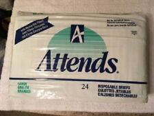 VINTAGE ATTENDS 1995 (24 DIAPERS) LARGE ADULT FAST SHIPPING GLOBAL,TOO!
