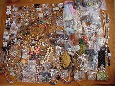 HUGE Lot Vintage costume fashion jewelry broken parts necklaces bracelets 27 lbs