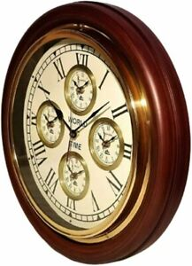 New Stylish Wooden Arising Shine Wall Clock For Home And Office Decoration