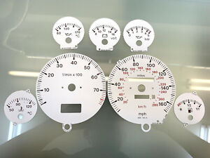 Audi 80 B3 B4 S2 dials Tachoscheiben esferas MPH - white color