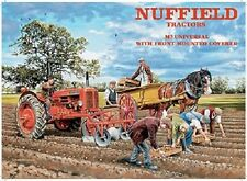 Retro Mini Metal Vintage Nuffield Tractor Advert Hanging Decoration Sign 6.5x9cm