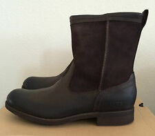 UGG Mens Sz 9 Brown Lerette Leather Suede Winter Boots Water Resistant 1005700