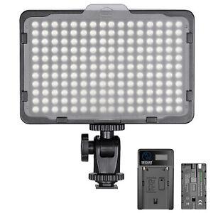 Neewer Dimmable 176 LED Video Light 5600K On-Camera Light Panel DSLR Cameras