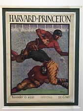 "1926 Harvard vs Princeton Football Program ""Jack Crawford's"" Most Famous Cover!!"