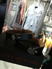 LEATHER BRACLET STAINLESS LOCK HD LOGO SIZE 9