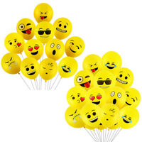 10PCs 12inch balloons expression yellow latex balloons for party weddin sf
