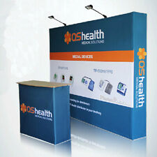 10ft custom pop up stand trade show display booth back wall with graphic print