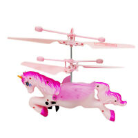 2020 Flying Pink Unicorn Drone Helicopter Aircraft Toy Children Birthday Gift UK
