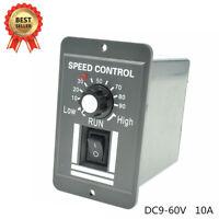 12V 24V 36V 48V PWM DC Motor Speed Controller Adjustable Switch 6A Regulator