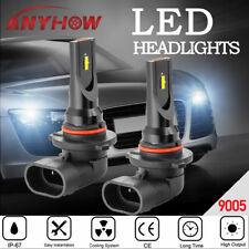 9005/9006 Universal LED High Low Beam Headlight 2 Bulbs Kit Fog 6000K 80W White