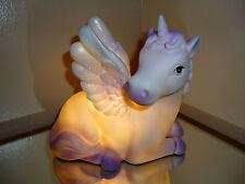 Table Lamp Girls Bedside LED Unicorn Bedroom Purple White Desk Light Wings Gift