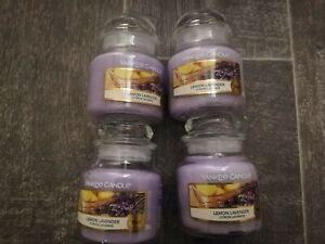 Yankee Candle BRAND NEW 4x Small Jars LEMON LAVENDER