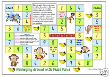 MONKEYING AROUND Place Value Game teacher resource MATH