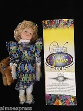 Wyndham Lane Porcelain GOLDIE Collectible Doll New In Box with Certificate CoA