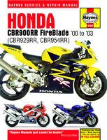 Haynes Manual 4060 Honda CBR929RR CBR954RR FireBlade 2000-2003
