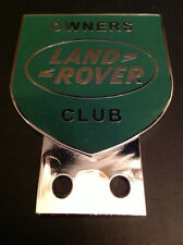 LAND ROVER OWNER CLUB CAR BADGE SERIES 1 2 3 CHROME PLATED AUTOMOBIL
