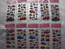 10 Sheets Stickers Puffy Children Fillers Scrapbooking  Loot Bags Disney Cars
