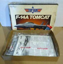 Top Gun F-14A Tomcat Jet Model Kit Testors 1987 1/72 Scale