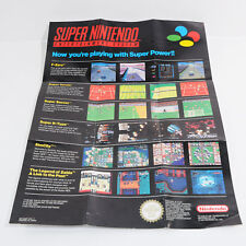 Now You're Playing With Super Power Poster / Flyer - Boxed - Super Nintendo SNES