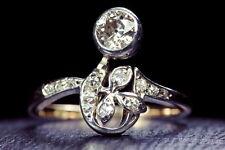 UNBELIEVABLE & UNUSUAL ANTIQUE FRENCH 18K GOLD BELLE EPOQUE DIAMOND RING c1910