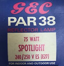 GENERAL ELECTRIC E27 75W HALOGEN PAR38 SPOTLIGHT Pressglaskolbenlampe 240/250V