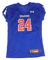 New Under Armour Dragons Football Mesh Training Jersey Youth Large Royal Blue