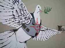 Banksy Dove In Bullet Proof Jacket A3 Photo Print Poster