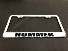 1x HUMMER STAINLESS STEEL LICENSE PLATE FRAME + Screw Caps