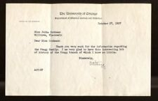 Amos Alonzo Stagg Signed TLS Letter Autographed Chicago PSA/DNA AC03944