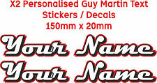 Custom / Personalised Guy Martin Text Style Decals Stickers - Your Name