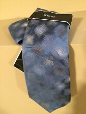 ALFANI Men's Blue Hopscotch Geometric Silk Neck Tie - One Size - NWT $34
