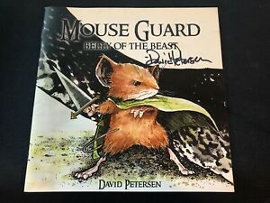 Mouse Guard Belly Of The Beast 1 3rd Printing Archaia 2006 Signed David Petersen