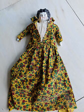 Antique Germany Porcelain Face Doll Handmade Clothing Dress As Is