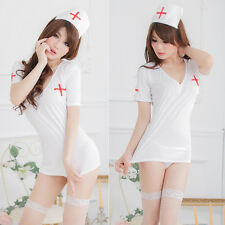 Hot Women Doctor Sexy Lingerie White Nurse Cosplay Lingerie Costume Uniform