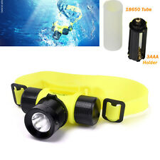 Newest LED 3000Lm Waterproof T6 Diving Swimming Headlamp Headlight Light