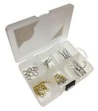Pike / Sea Fishing Treble Hooks, Swivels, Snaps & Rig Rings in Tackle Box 167044