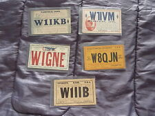 USA 1930s Amateur Radio Ham QSL Cards 1930s x5
