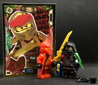 ACRONIX KRUX The BOSS & KAI NINJA red  + TRADING CARD LEGO Ninjago minifigures