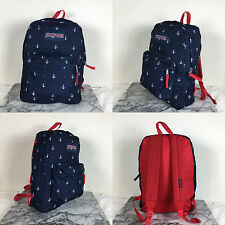 2016 Jansport Superbreak Backpack Red Tape/Land Ahoy 100% AUTHENTIC School