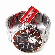 Swiss Military Hanowa 06-5269.04.005 señores reloj Chrono acero inoxidable marrón > > nuevo
