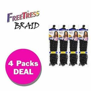 "WATER WAVE 22"" (4-Pack,#2 DARK BROWN)  Freetress Synthetic Crochet Braiding Hair"