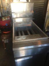 Dcs 40 Lb Commercial Restaurant Natural Gas Stainless Steel Floor Deep Fryer