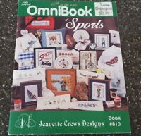 The OmniBook of Sports Jeanette Crews Designs Cross Stitch Pattern